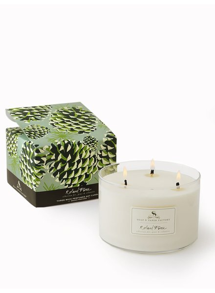 Roland Triple Wick Soy Candle