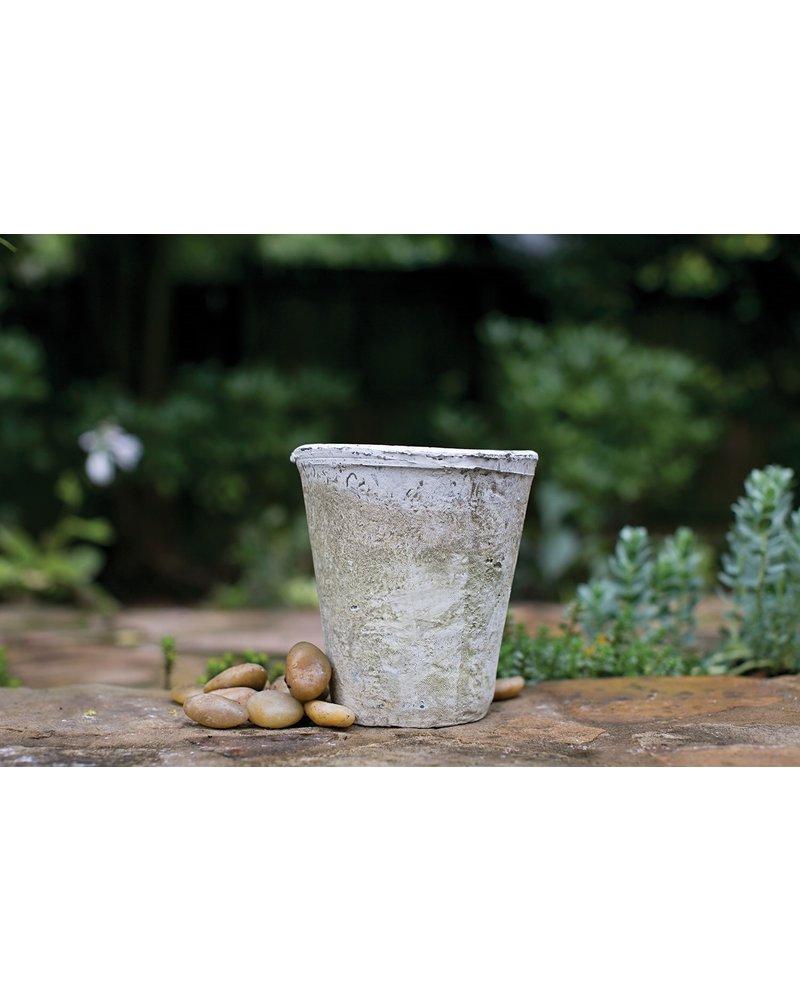 Antique White Concrete Pot- Medium