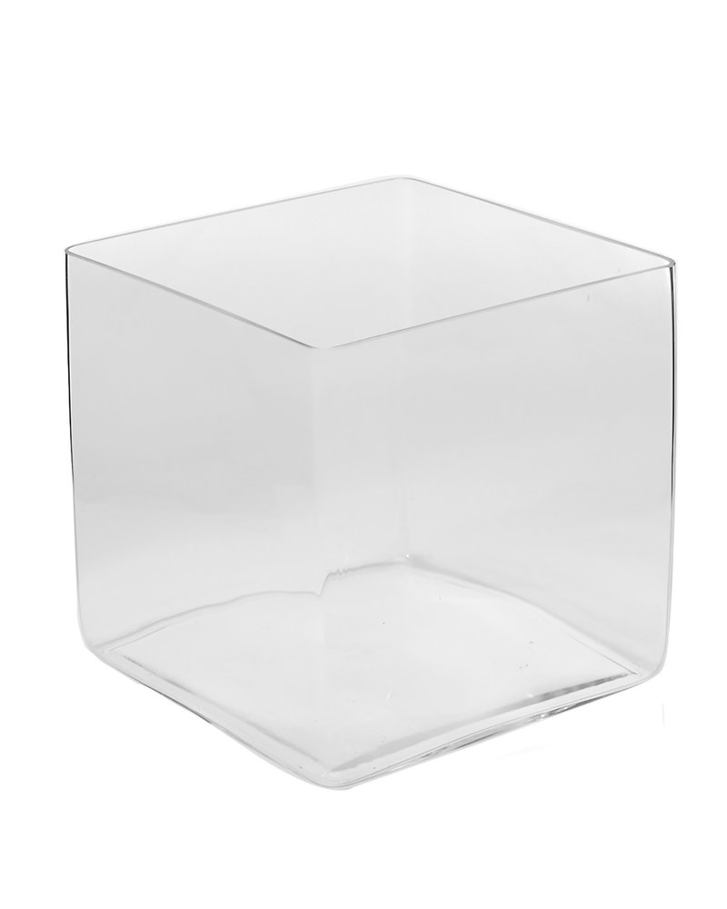 Estate Glass Cube Planter 12""