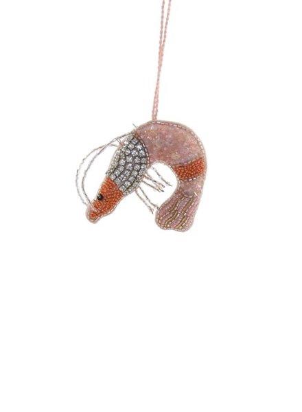 Beaded Shrimp Ornament