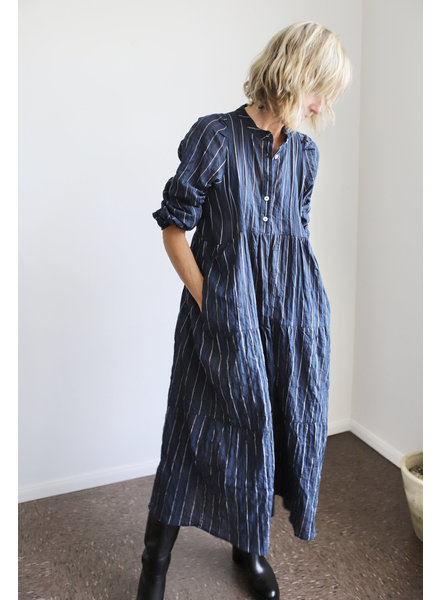 San Pancho Dress- Pitch Stripe