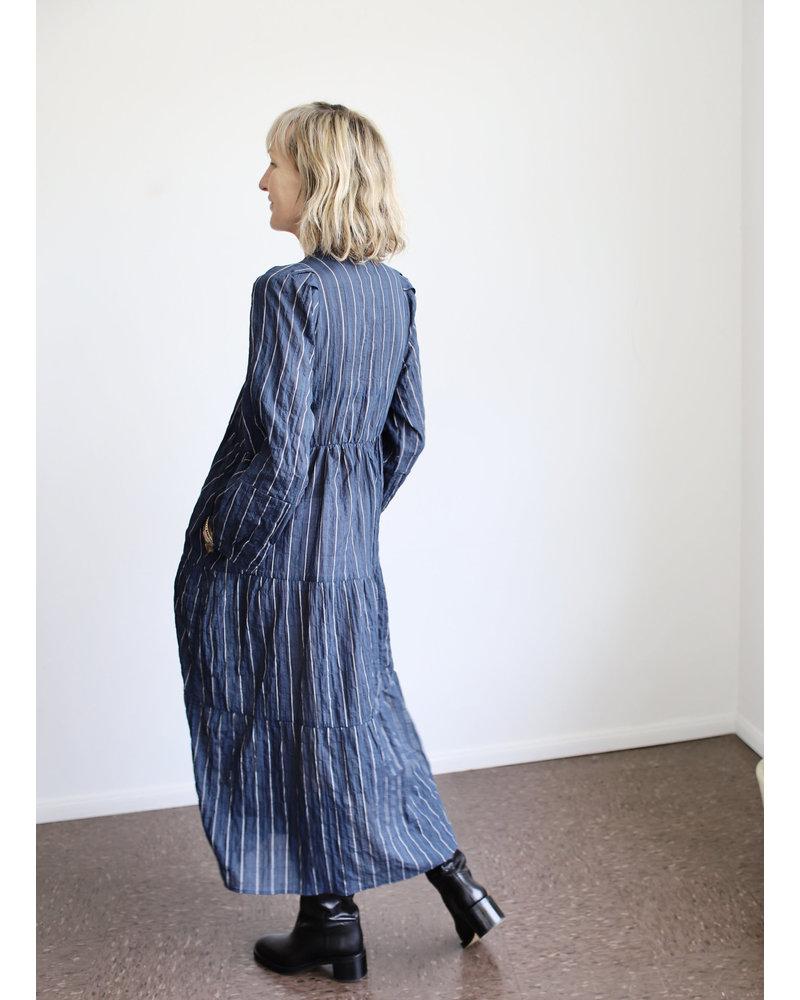 San Pancho Dress- Pitch Stripe