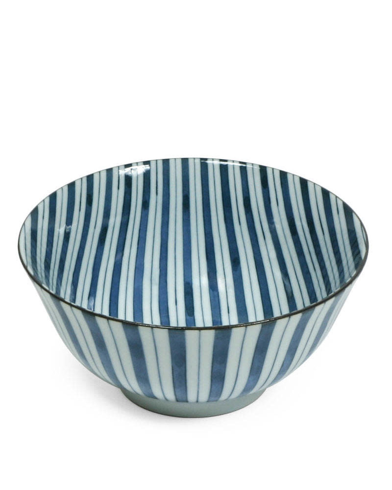 "Bowl 6"" Blue Stripes"