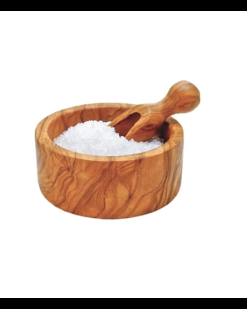 Olive Wood Mini Salt Bowl