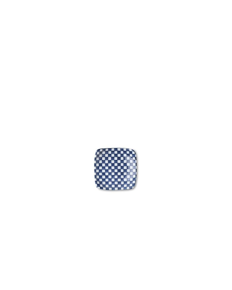 Blue and White Checkered Plate