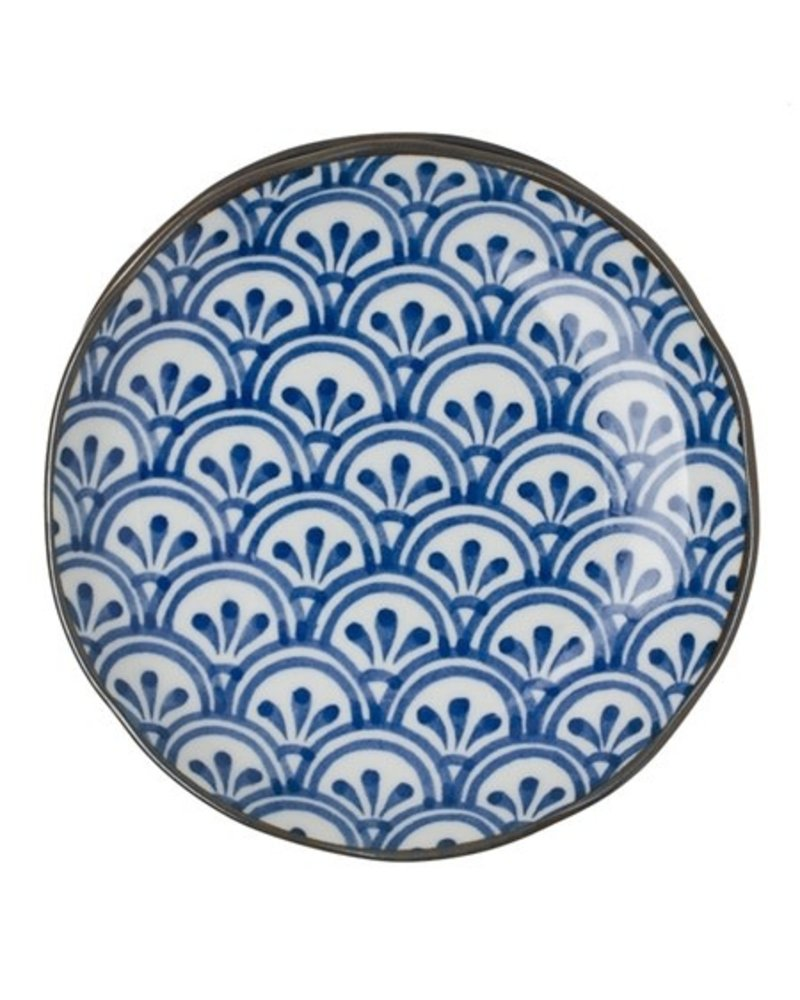 "Plate 6.5"" Blue & White Hana Seihaih"