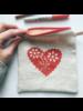 zipper pouch cookie heart