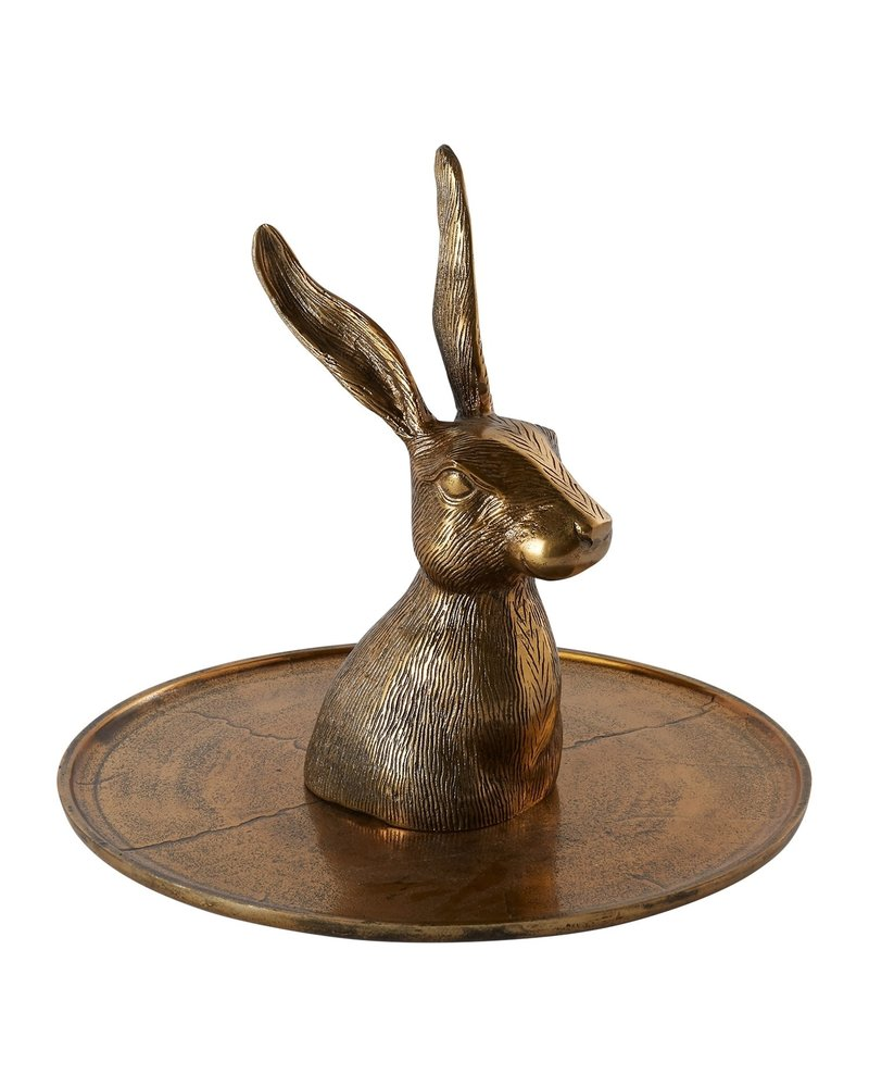 Bronze Hare Platter