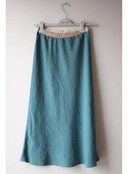 Linen Skirt- Lagoon