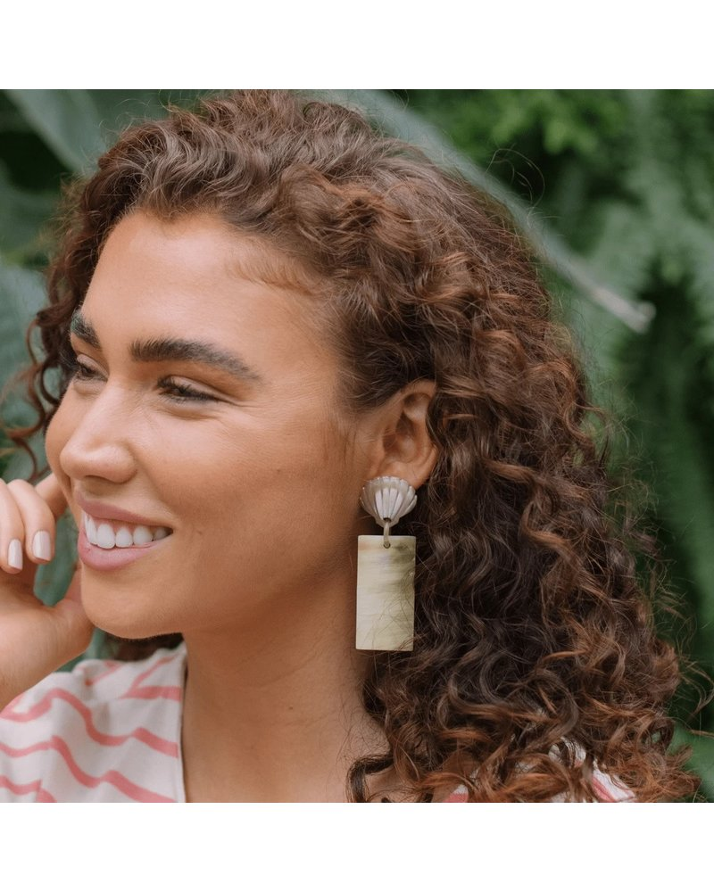 Seashell Horn Drop Earrings