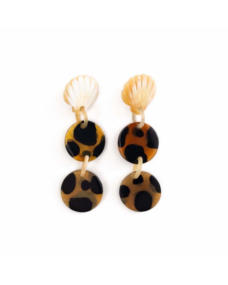 Tortoise Seashell Earrings