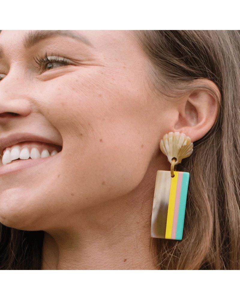 Breezy Seashell Horn Earrings