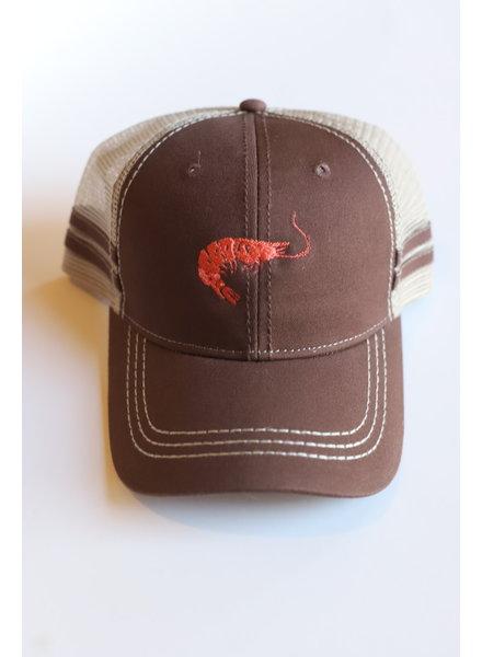 Structured Shrimp Hat- Chocolate