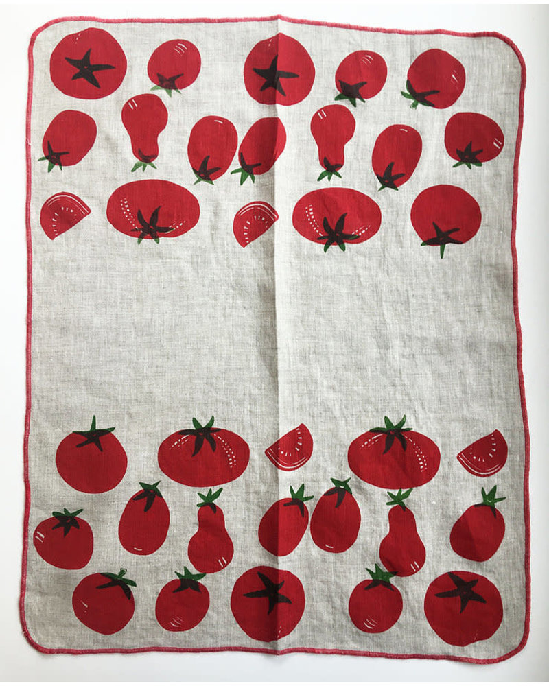 Linen Tea Towel Tomato