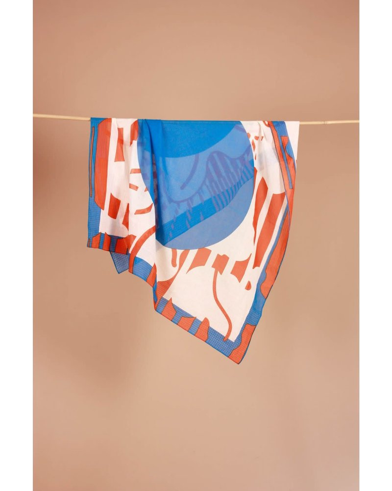 Foulard Colchique Bleu