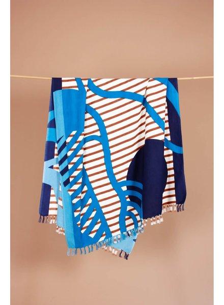 Fouta Soleil Couchant Bleu
