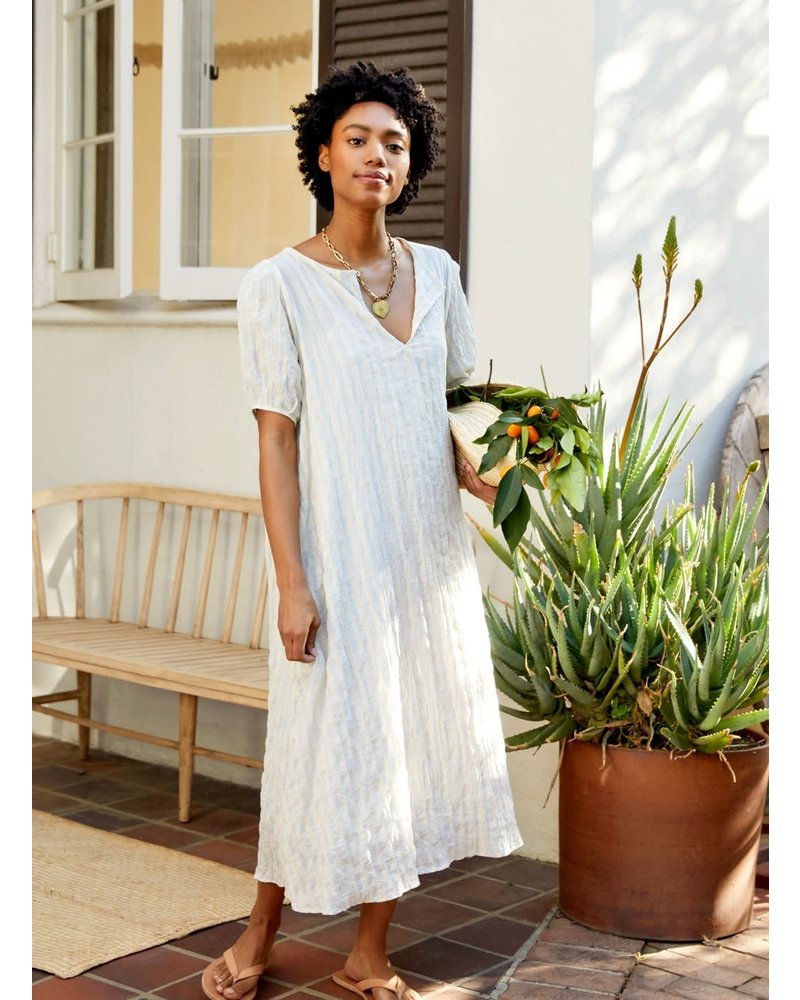 Springs Dress- Pale Blue & Cream