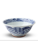 "Blue and White Circles Bowl 7.5"""