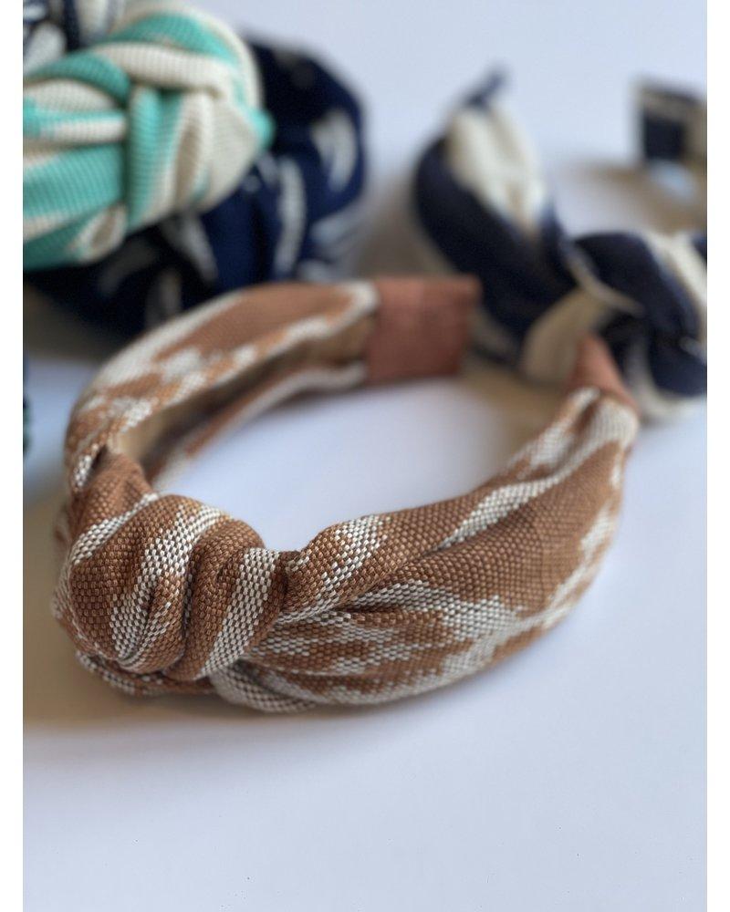 Loomed Headband  Ikat- Rust
