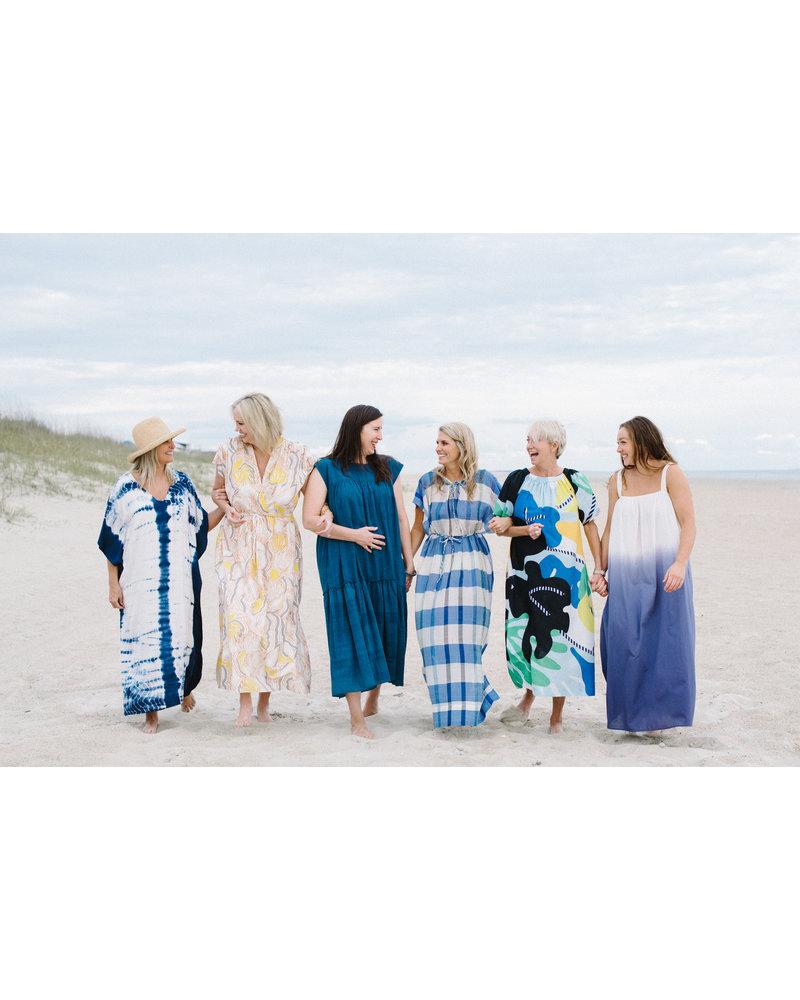 Indigo Dip Dye Dress