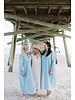 San Pancho Dress- Pale Blue Stripe