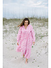 Emma Dress- Pink Block Floral