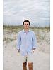 Mens Linen Shirt- Blue Storm