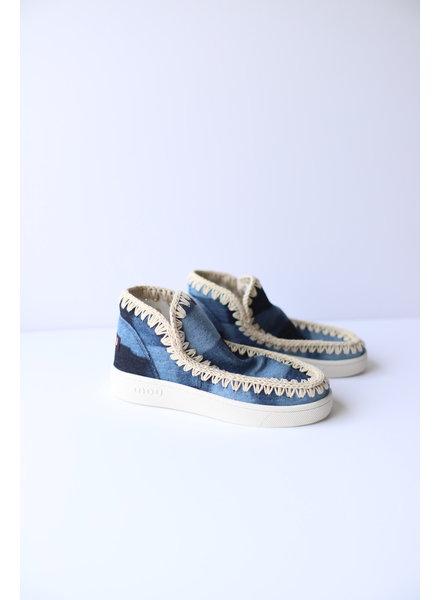 Denim Patchwork Mou Sneakers