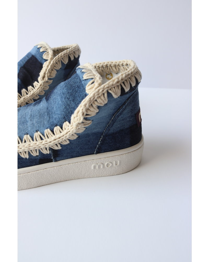 Denim Patchwork Mou Sneakers