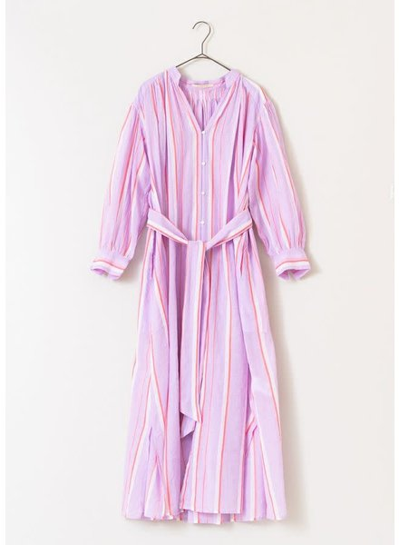Lilac Stripe Gown- One Size