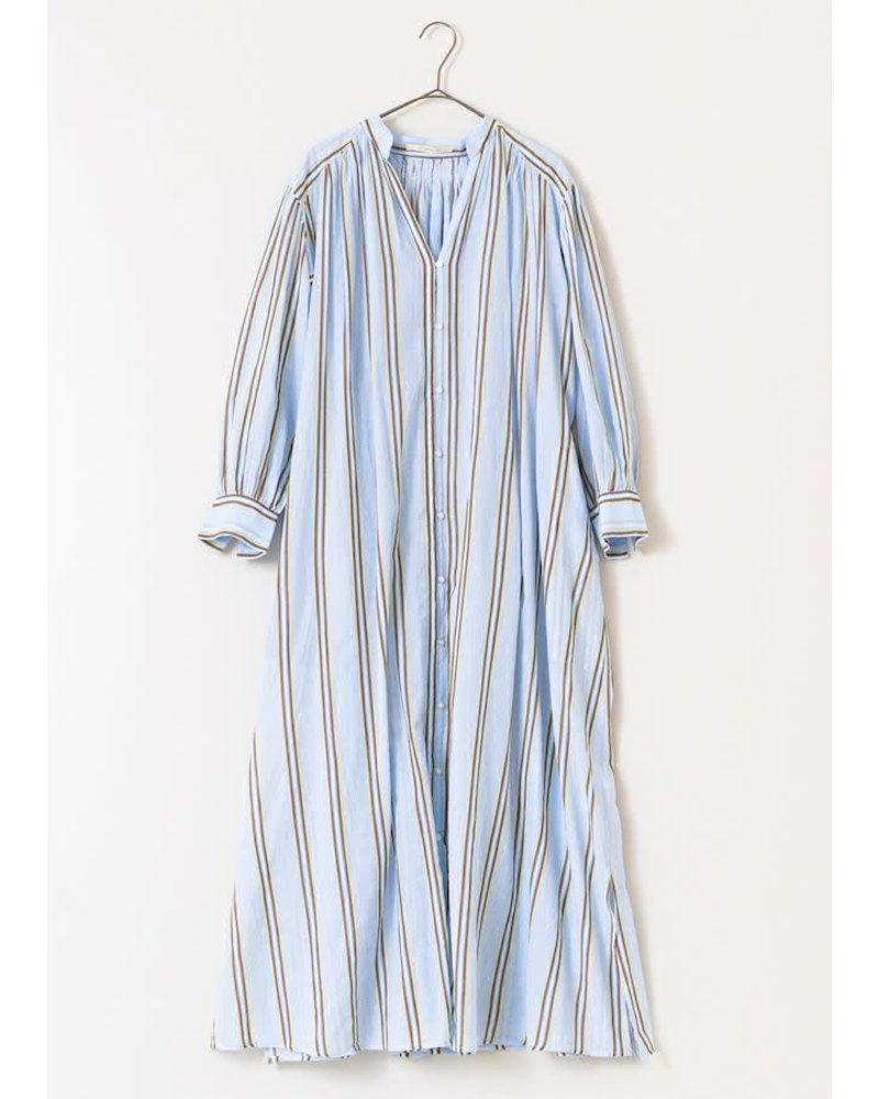 Blue Stripe Gown- One Size