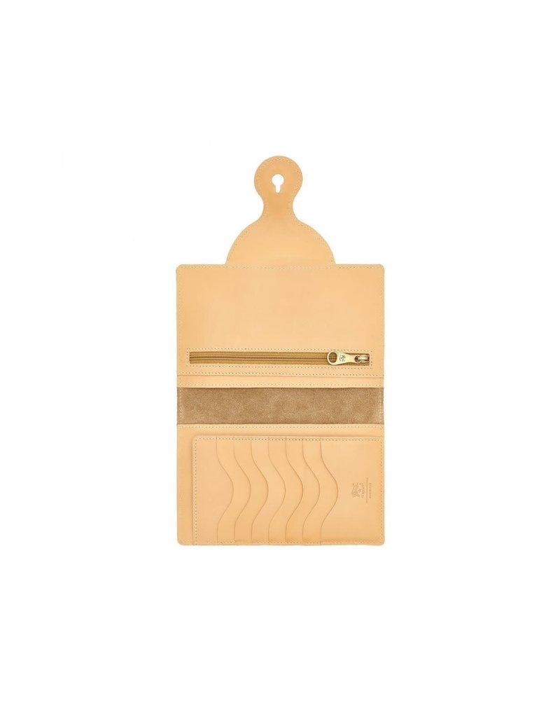 Cowhide Wallet- Natural