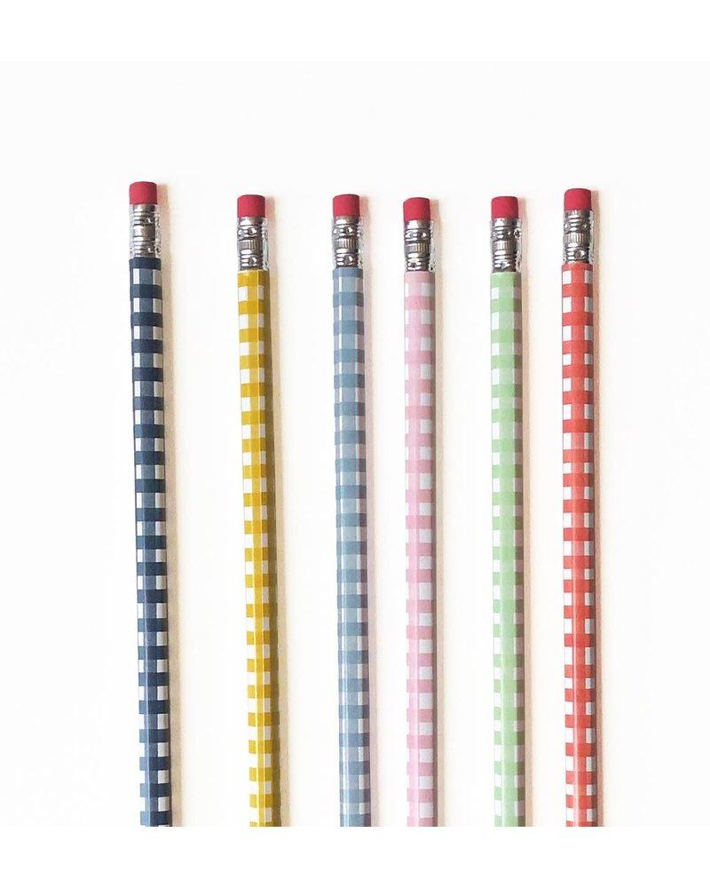 Watercolor Gingham Pencil Pack