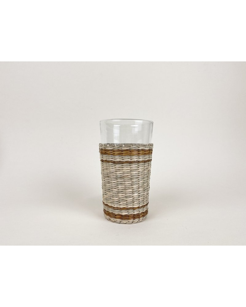 Seagrass Highball with Brown Stripe