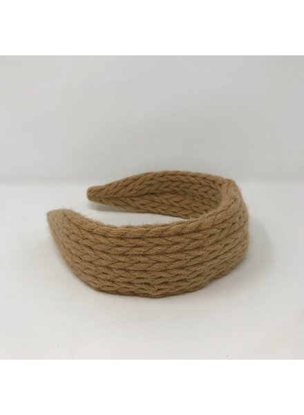 Camel Braided Sweater Headband