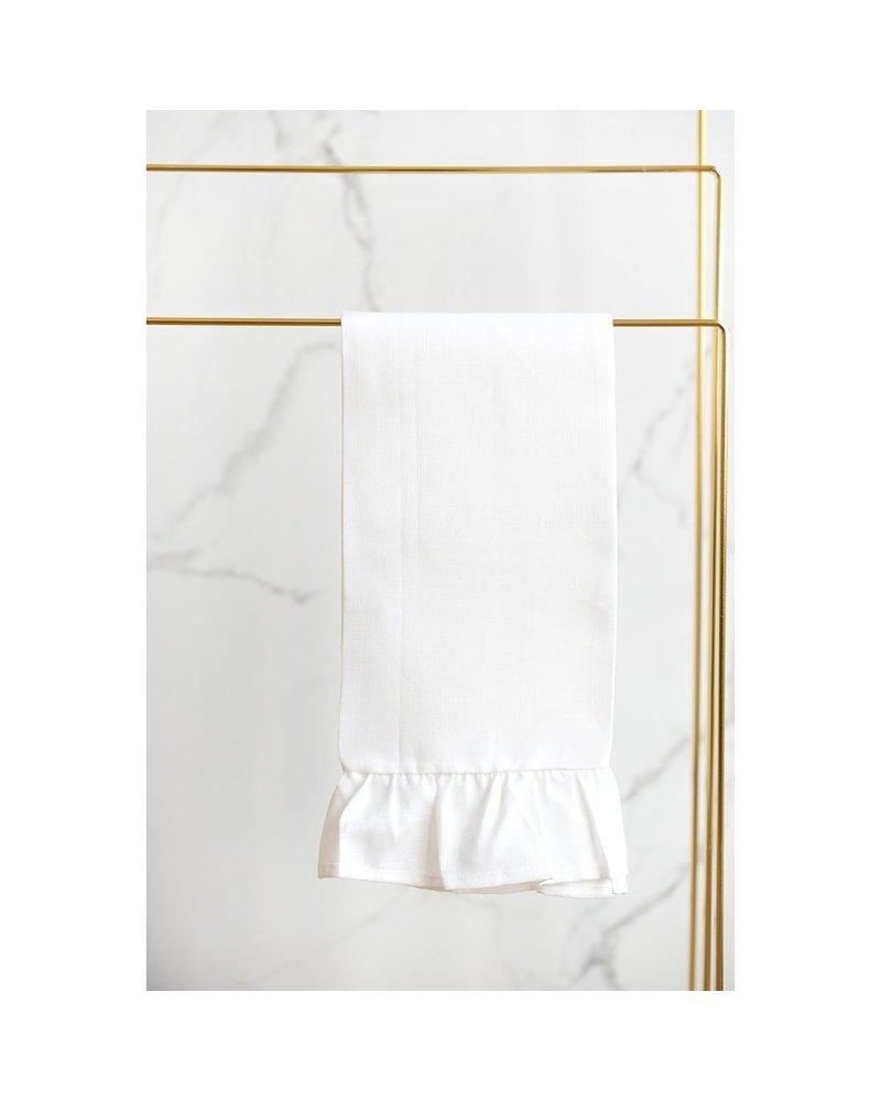 Como Ruffle Linen Tea Towel