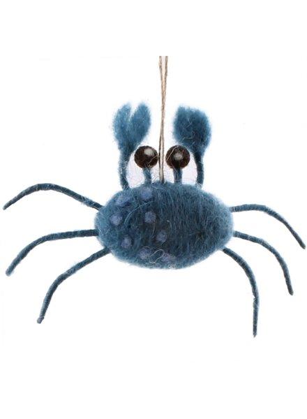 felt blue crab ornament