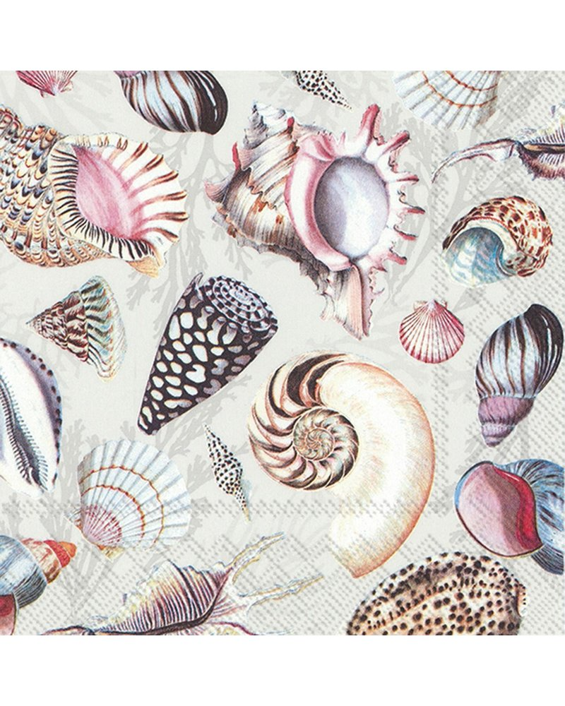 Paper Cocktail Napkins / Shells of the Sea