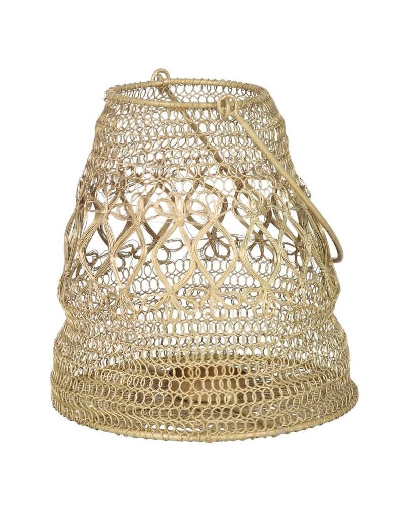 Small Wire Candle Holder- Antique Brass