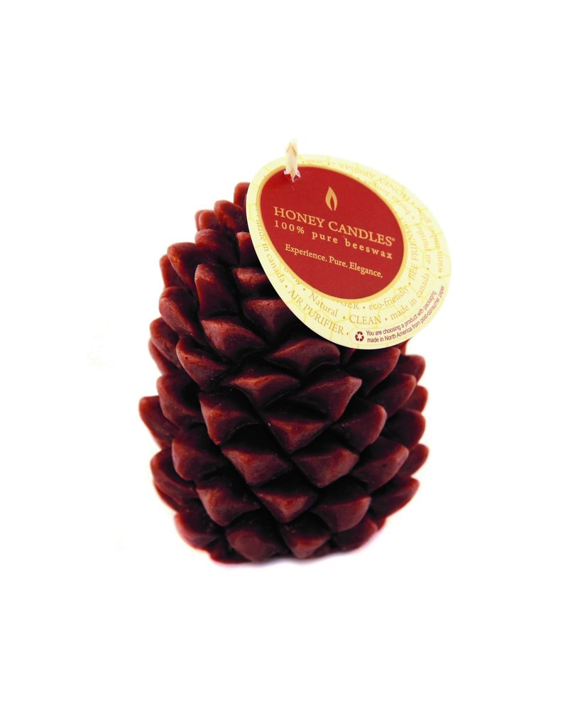 Brown Beeswax Pinecone Candle