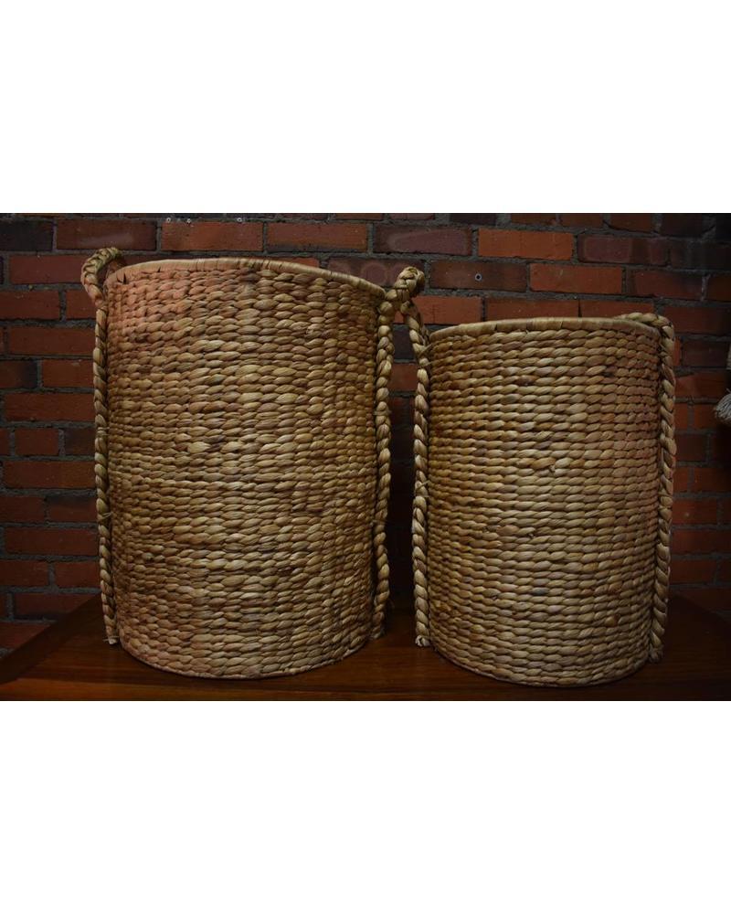 Tall Round Hyacinth Storage Basket (Small)