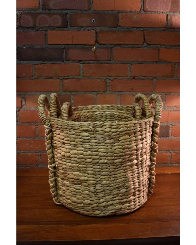 Short Round Hyacinth Storage Basket (Large)