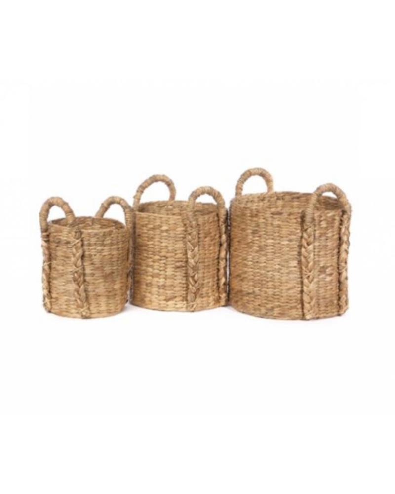 Short Round Hyacinth Storage Basket (Medium)