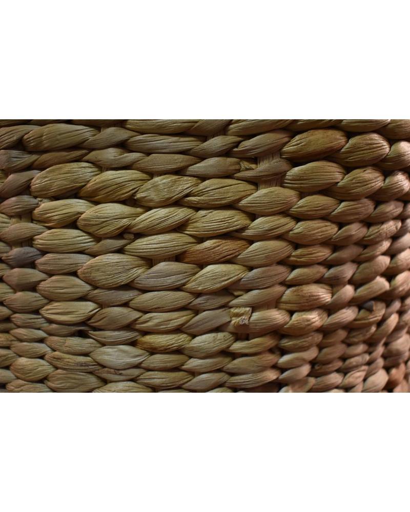 Short Round Hyacinth Storage Basket (Small)