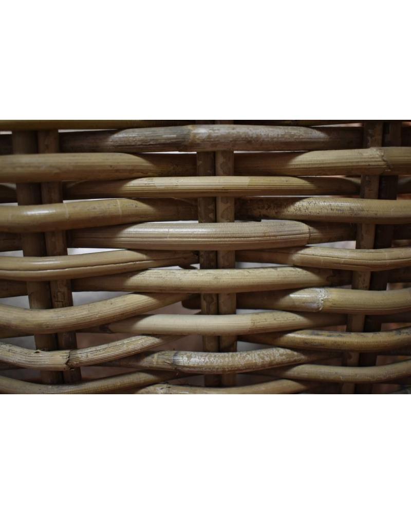 Square Rattan Storage Basket, Kooboo Grey (Large)