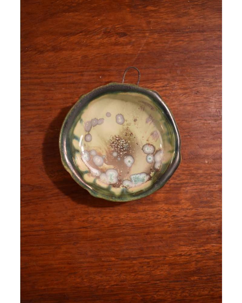 Sea Urchin Ornament - Mint & Charcoal