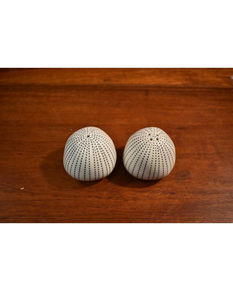 Pebble Salt & Pepper Shaker (White and Blue)