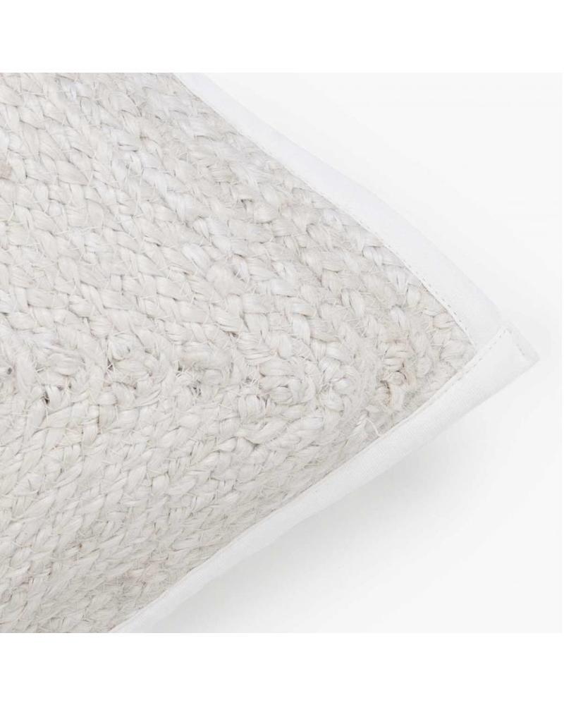 Woven Lumbar Pillow 30cm x 60cm, White