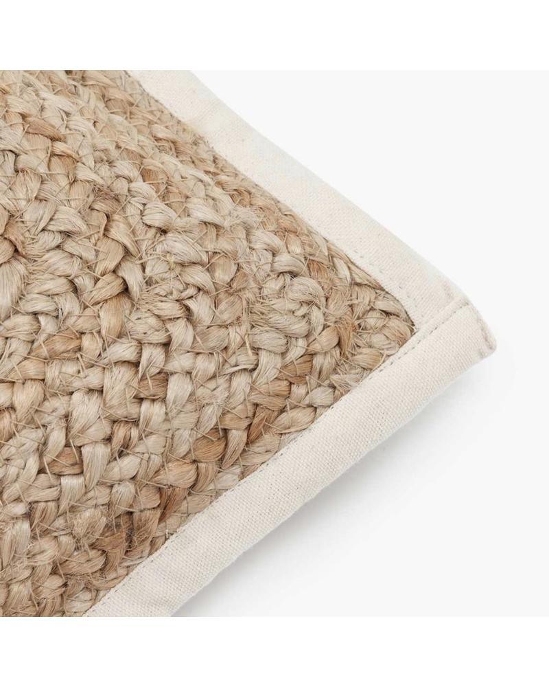 Woven Lumbar Pillow 30cm x 60cm, Natural