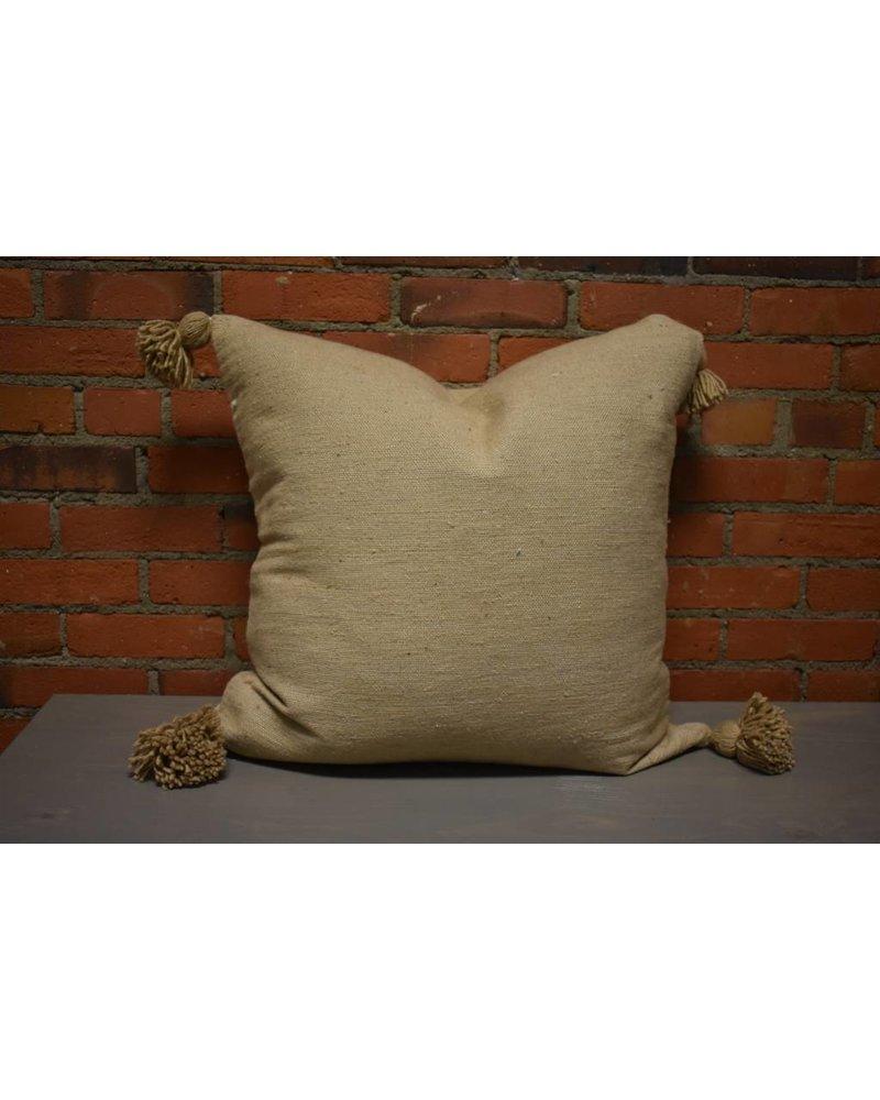 """Moroccan Pillow-Euro (26"""" x 26"""") - Khaki"""